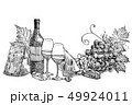 ワイン チーズ ガラスのイラスト 49924011