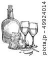ワイン チーズ びんのイラスト 49924014