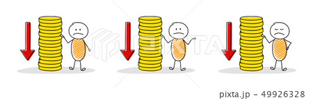 Collection of cartoon people with coin stacks and 49926328
