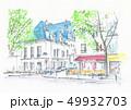 世界遺産の街並み・フランス・パリ・セーヌ河畔のカフェテラス 49932703