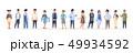 若い 若 アジア人のイラスト 49934592