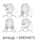 顔 面 面子のイラスト 49934871