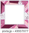 6月のパターン柄 パッチワークフォトフレーム 紫 49937077