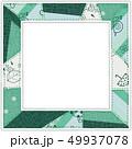 6月のパターン柄 パッチワークフォトフレーム 緑 49937078