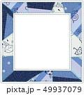 6月のパターン柄 パッチワークフォトフレーム 青 49937079