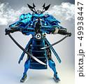 Samurai robot warrior design .3D rendering 49938447