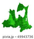 青森県地図 49943736