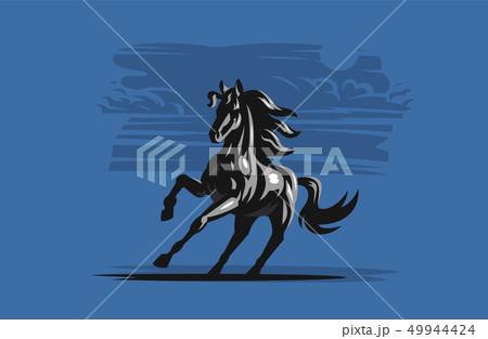 Horse galloping. Vector illustration. 49944424