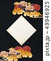 背景素材-ボード-和紙-牡丹-和柄-中華風 49946925