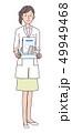 女性 薬剤師 薬のイラスト 49949468