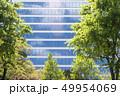 緑の新緑とオフィスビル 49954069