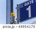 工事現場のゲート標識 49954170