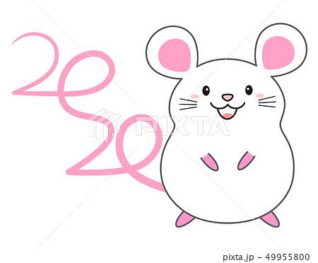 しっぽの形が2020になっているねずみ mouse 2020 49955800