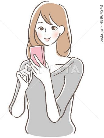 携帯電話 女性 49964543