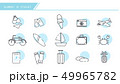 Summer Icons with white background 49965782