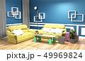 ソファー インテリア 空間のイラスト 49969824