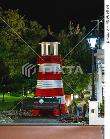 lighthouse on promenade in Adler, Russia 49969984
