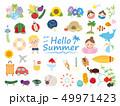 夏の可愛いイラスト素材集 49971423