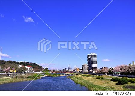 仙台市の広瀬橋付近より上流を望む 49972825