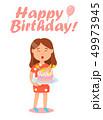 ケーキ バースデー 誕生日のイラスト 49973945