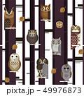 ふくろう フクロウ 梟のイラスト 49976873
