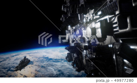 Flying an Animated Space Station 49977280