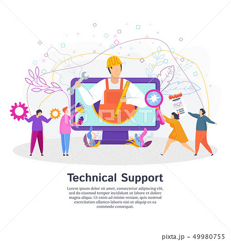 Technical support concept. Customer service. 49980755