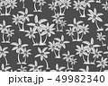 grey vector palm trees drawn seamless pattern 49982340