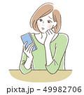携帯電話 困る女性 49982706