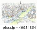 世界遺産の街並み・フランス・パリ・ノートルダムの上から 49984864