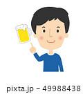 ビール 指差し チェックのイラスト 49988438