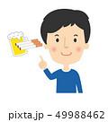 たばこ ビール 指差しのイラスト 49988462
