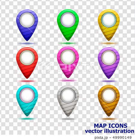 Set of map icons. Vector illustration. 49990149