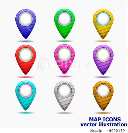 Set of map icons. Vector illustration. 49990159