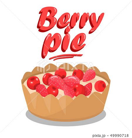 Delicious Berry Pie Cartoon Social media Banner 49990718
