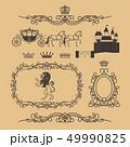 お姫さま プリンセス 姫のイラスト 49990825