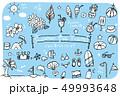 夏 海水浴 アイテムのイラスト 49993648