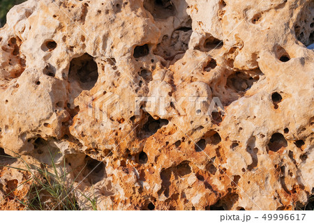 Tuff, also known as volcanic tuff, type of rock 49996617