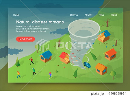 Isometric is Written Natural Disaster Tornado. 49996944