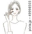 女性 ビューティー 50代のイラスト 49998503