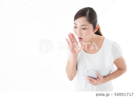 ミドル女性・白バック 50001717