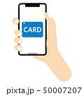 カード払い カード決済 キャッシュレス決済のイラスト 50007207