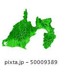 静岡県地図と市町村境界 50009389