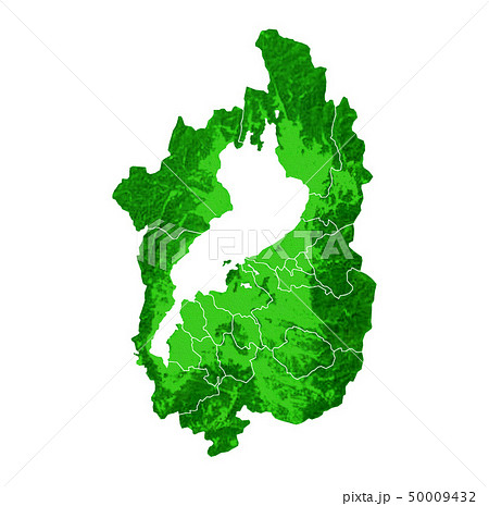 滋賀県地図と市町村境界 50009432