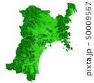 宮城県地図と市町村境界 50009567