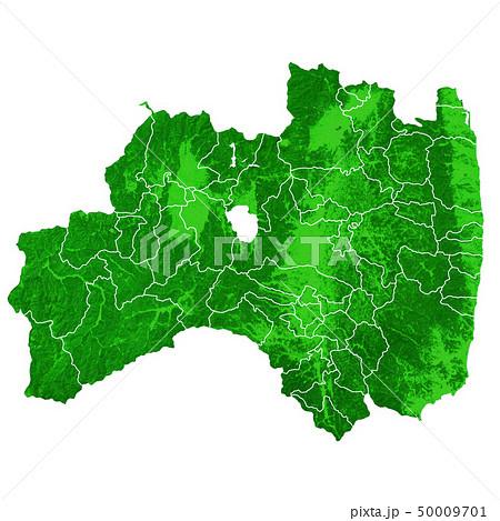 福島県地図と市町村境界 50009701