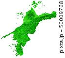 愛媛県地図と市町村境界 50009768