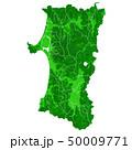 秋田県地図と市町村境界 50009771
