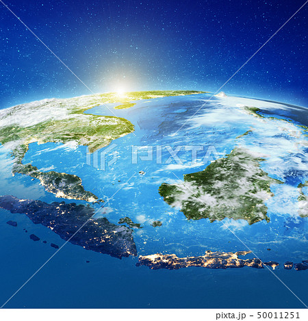 Indonesia islands from space 50011251