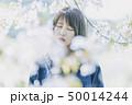 桜 女性 春の写真 50014244